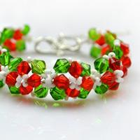 How to Make Beaded Bracelets- Special Design for Christmas Day with Swarovski Crystal Beads