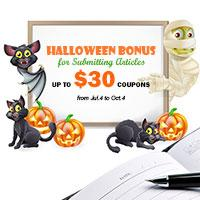 Halloween Bonus - Get Coupons by Submitting DIY Articles