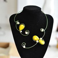 Easy Wire Wrapped Necklace Making Tutorial for Green Hands