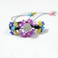 Bracelet Making Ideas - How to Make a Star Bead Woven Bracelet
