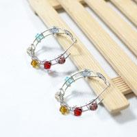 How to Make a Pair of Easy Wire Hoop Earrings with Glass Beads