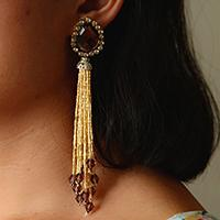 Pandahall Tutorial - How to Make a Pair of Handmade Gold Tassel Earrings