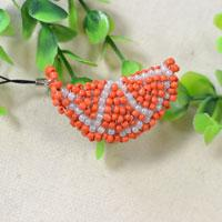 Pandahall Tutorial - How to Make a Cute Orange Beaded Stitch Keychain