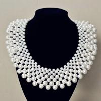 How to Make a Bridal White Pearl Bead Statement Necklace