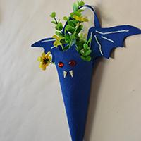 How to Make a Blue Halloween Bat Holder for Storing Trick-or-treat Candies