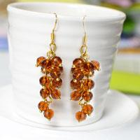Easy DIY Project - How to Make Your Own Cute Brown Bead Drop Earrings