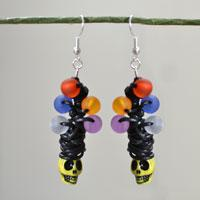 How to Make a Pair of Cute Halloween Skull Drop Earrings with Beads and Wires