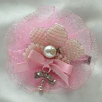 Pandahall Free Tutorial on How to Make Hair Clip with Beads and Organza