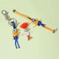Nylon Thread Craft - How to Make Homemade Halloween Keychain