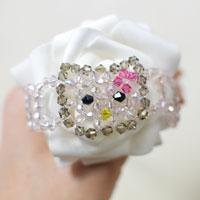 How to Make a Hello Kitty Charm Bead Bracelet for Kids