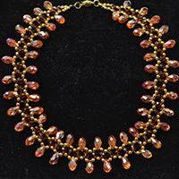 Autumn Jewelry - How to Make a Fashion Orange Beaded Choker Necklace