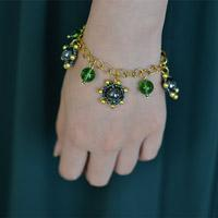 How to Make Your Own Green Chain Charm Bracelet Step by Step