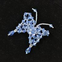 Pandahall's Free Tutorial on Making a Beaded Blue Butterfly Brooch