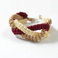 Square Knot Bracelet Instructions on How to Make Thread Friendship Bracelets