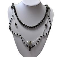 DIY Jewelry Set - How to Make a Three Strand Black Necklace and Earring Set