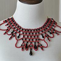 How to Make a Chunky Red and Black Statement Necklace at Home