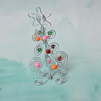 DIY Desk Decor - How to Wrap an Ornament Tree with Wire and Beads