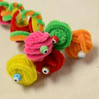 DIY Halloween Craft- How to Make Chenille Cobras with Evil Eye Beads