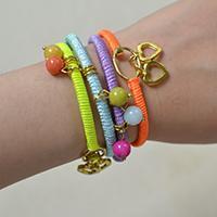 How do I Make a 4 Color Nylon Cord Friendship Bracelet with Jade Beads