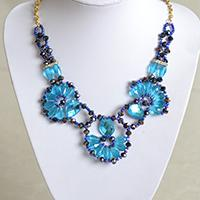 How to Make a Delicate Blue Charm Necklace with Beads at Home