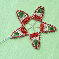 How to Make a Star Magic Wand with Pearl Beads and Seed Beads for Kids