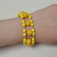 Pandahall Free Tutorial on How Do You Make a Yellow Beaded Bracelet in 3 Steps