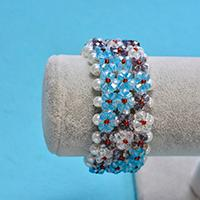 Pandahall Tutorial - How to Make a Cute Cuff Pearl and Glass Beaded Bracelet