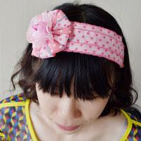 How to Make a Ribbon Flower Headband in Pink for Girls