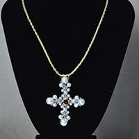 How to Make a Pearl Cross Pendant Necklace with Leather Cord