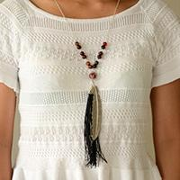 How to Make a Simple Tibetan Beads and Tassels Pendent Necklace