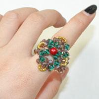 Glass Bead Ring Patterns and Instructions on How to Make a Christmas Ring