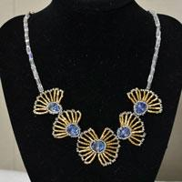 How to Make a Set of Handmade Flower Necklace and Ring Using Beads