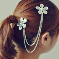 How to Make a Flower Hair Clip with Chain Linked