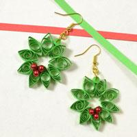 Handmade Quilling Paper Art – How to Make Quilling Paper Flower Earrings