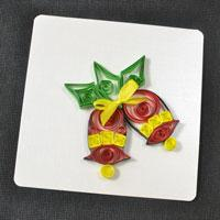 Free Tutorial on How to Make Paper Quilling Christmas Bell Cards