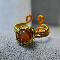 How to Make a Wire Wrapped Ring with Cat Eye Bead