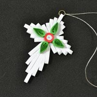 How to Make Cross Christmas Quilling Paper Hanging Ornaments