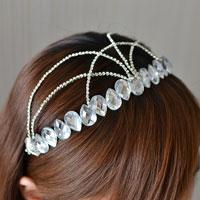 How to Make a Stunning Clear Beaded Headband with Rhinestone Chains for Girls