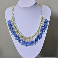 How to Make a Gold Chain and Pearl Necklace with Beaded Tassels