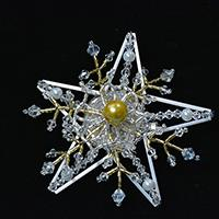 Pandahall's Free Tutorial on Making a Beaded Snowflake Brooch