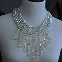How to Make a Beaded Cluster Wedding Necklace with Pearl Beads and Glass Beads