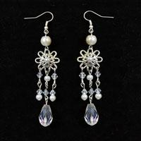 How to Make a Pair of White Snowflake Chandelier Earrings