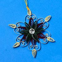 Pandahall's Tutorial on How to Make Christmas Quilling Paper Snowflakes