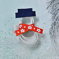 How to Make a Handmade Ribbon Christmas Santa Clause Hair Clip