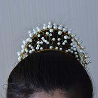 Pandahall Tutorial - How to Make a White Pearl Wedding Crown Headband