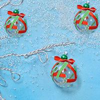 How to Make Easy Christmas Tree Ornament with Glass Lampwork Bead and Ribbons
