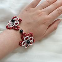 Pandahall Tutorial - How to Make a Red Pearl Flower Bracelet