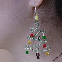 Pandahall Tutorial on How to Make Christmas Tree Earrings