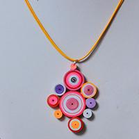 Pandahall Tutorial on How to Make an Easy Quilling Paper Pendent Necklace