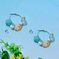 How to Make a Pair of Ocean Style Shell and Pearl Hoop Earrings Step by Step